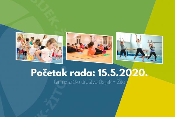 Nakon pauze, od 15.5. kreću treninzi u Sokol Centru