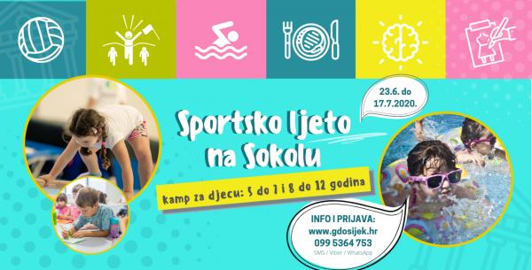 Sportsko ljeto na Sokolu 2020. – UPISI U TIJEKU!