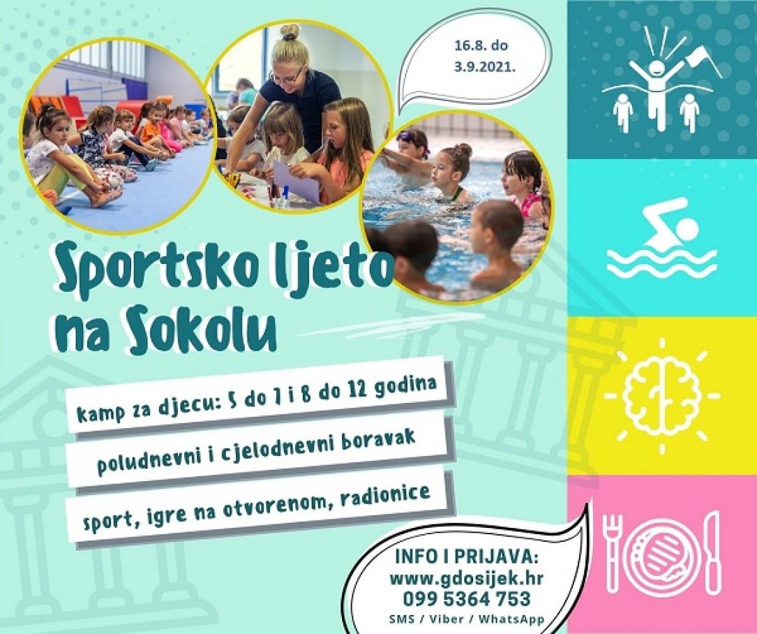 Sportsko ljeto na Sokolu 2021. – UPISI U TIJEKU!