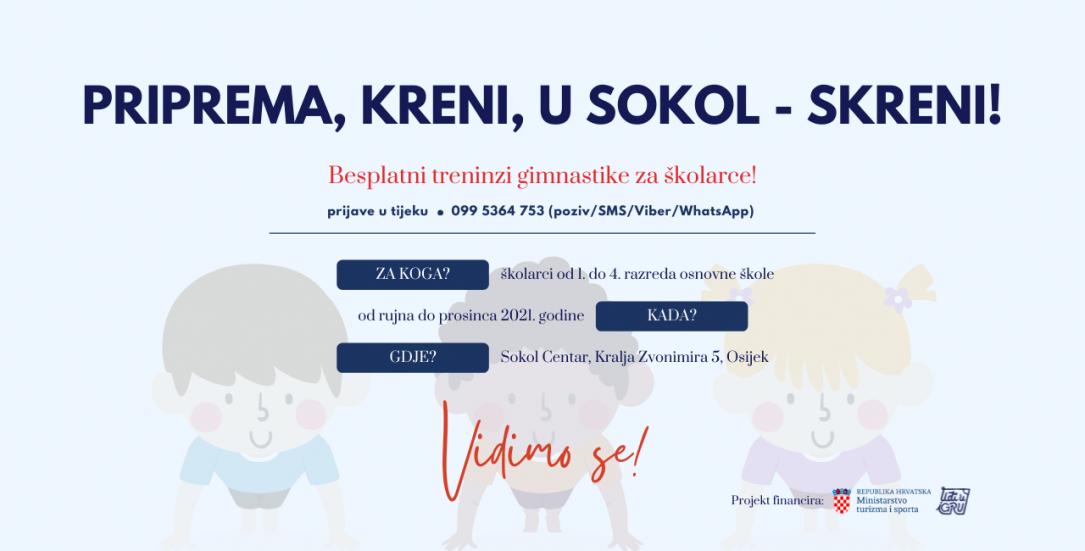 Upisi u program Priprema, kreni, u Sokol – skreni!